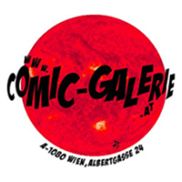 The logo of Comic-Galerie