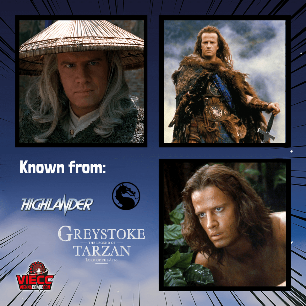 An image collage of the actor Christopher Lambert