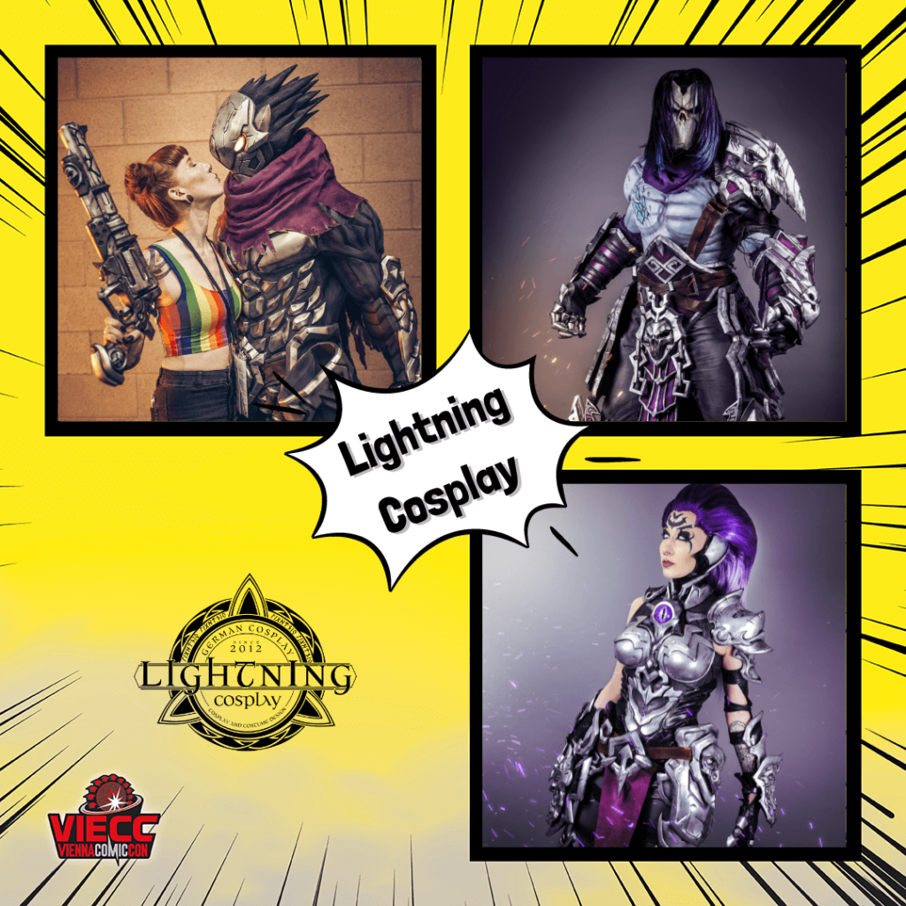 An image collage of Lightning Cosplay